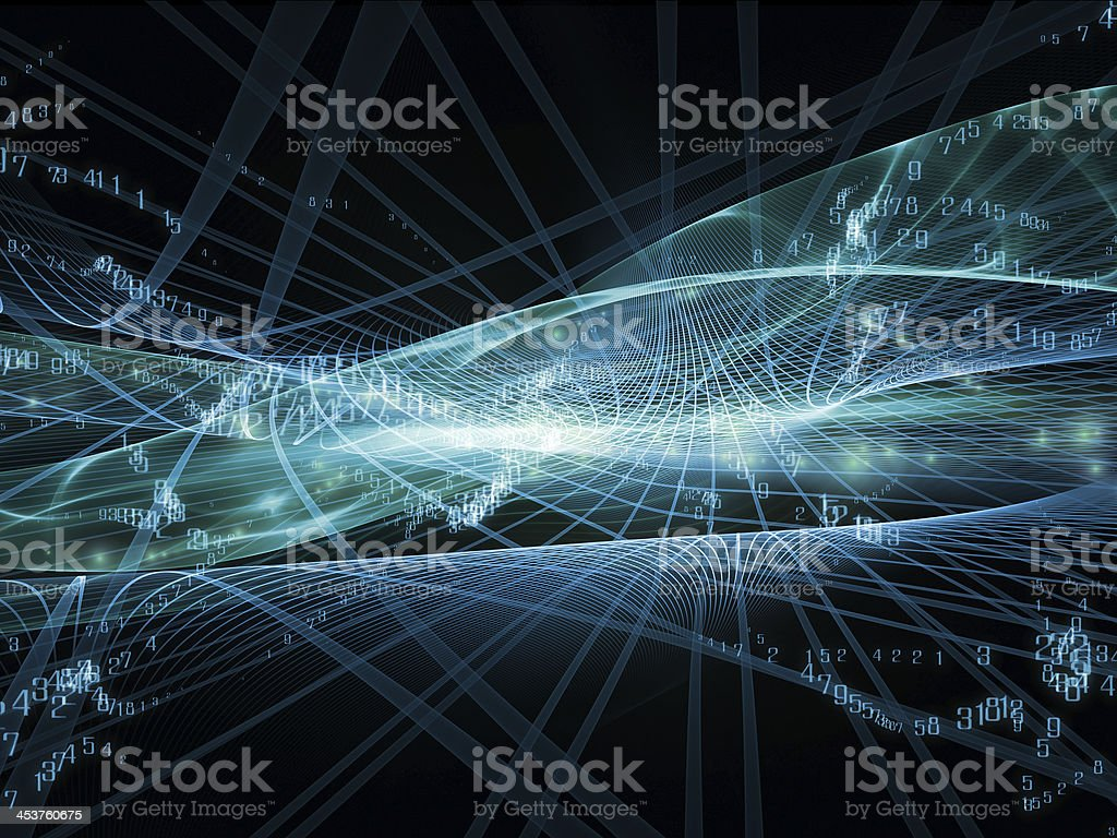 Energy of Fractal Realms vector art illustration