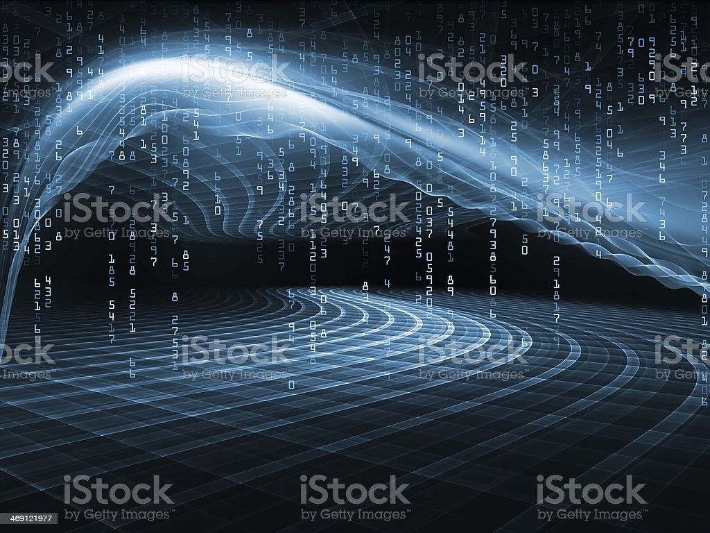 Energy of Fractal Realms stock photo