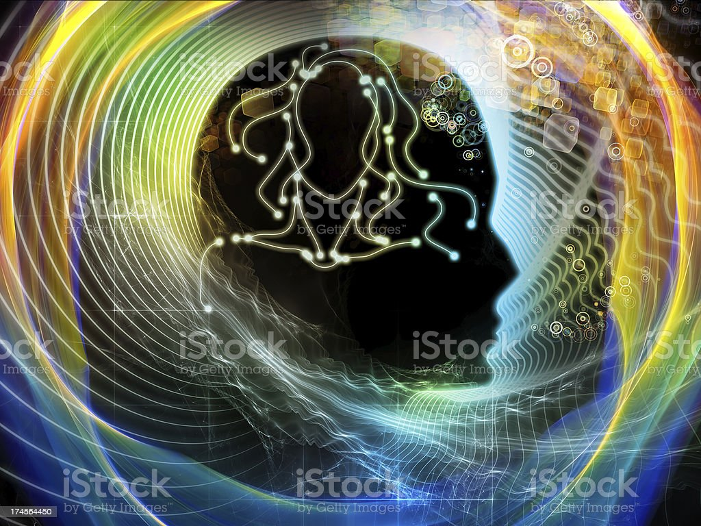 Energy of Human Mind royalty-free stock photo