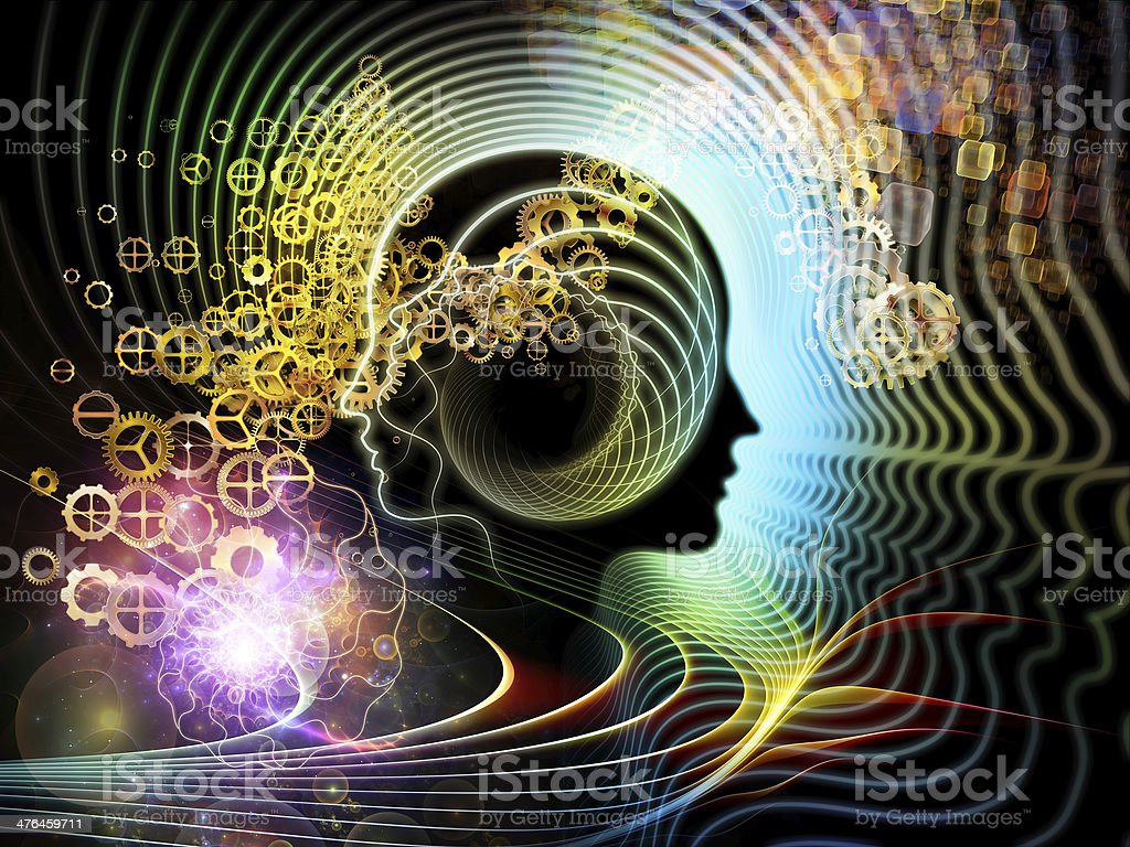 Energy of Human Mind royalty-free stock vector art