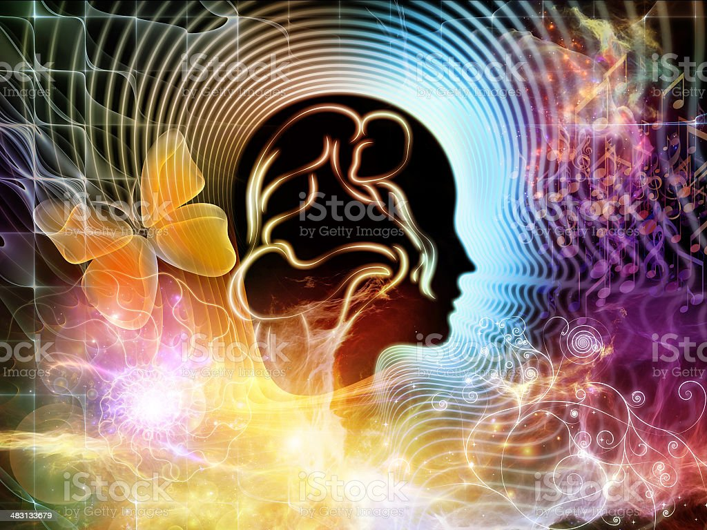 Energy of Human Mind stock photo