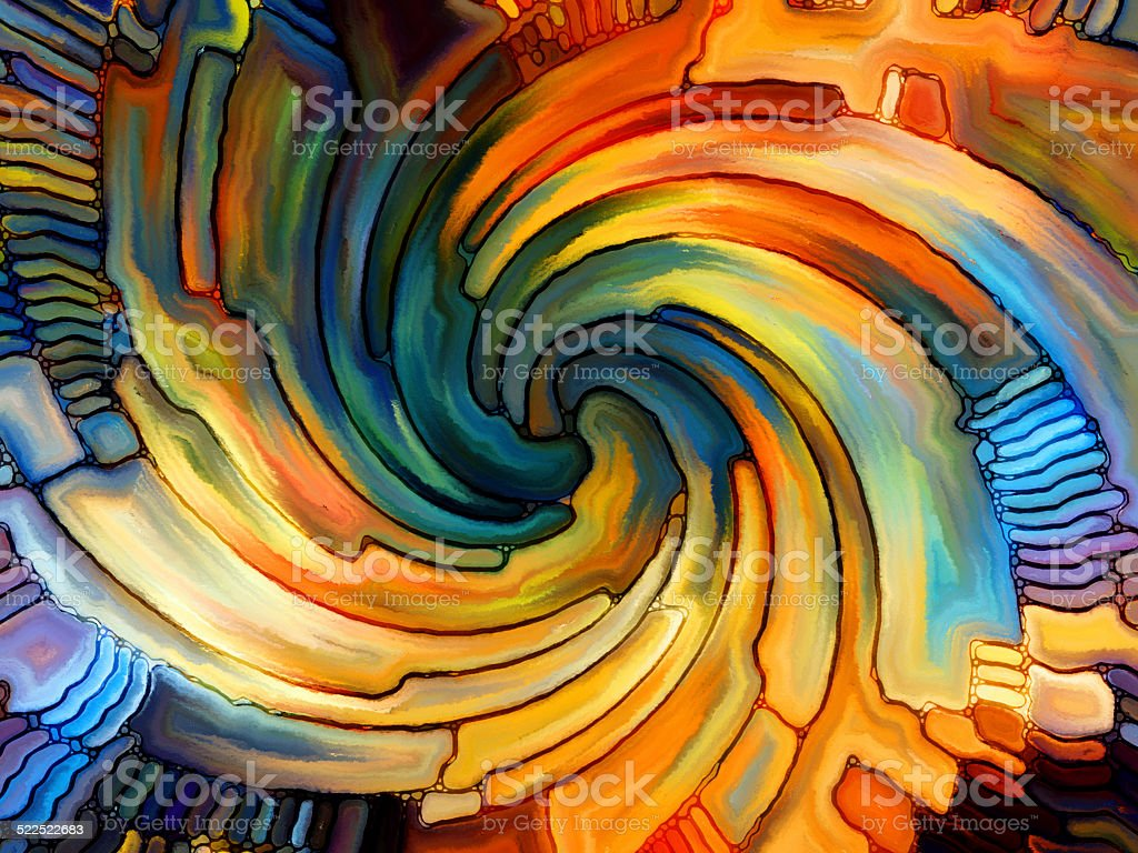 Energy of Stained Glass stock photo