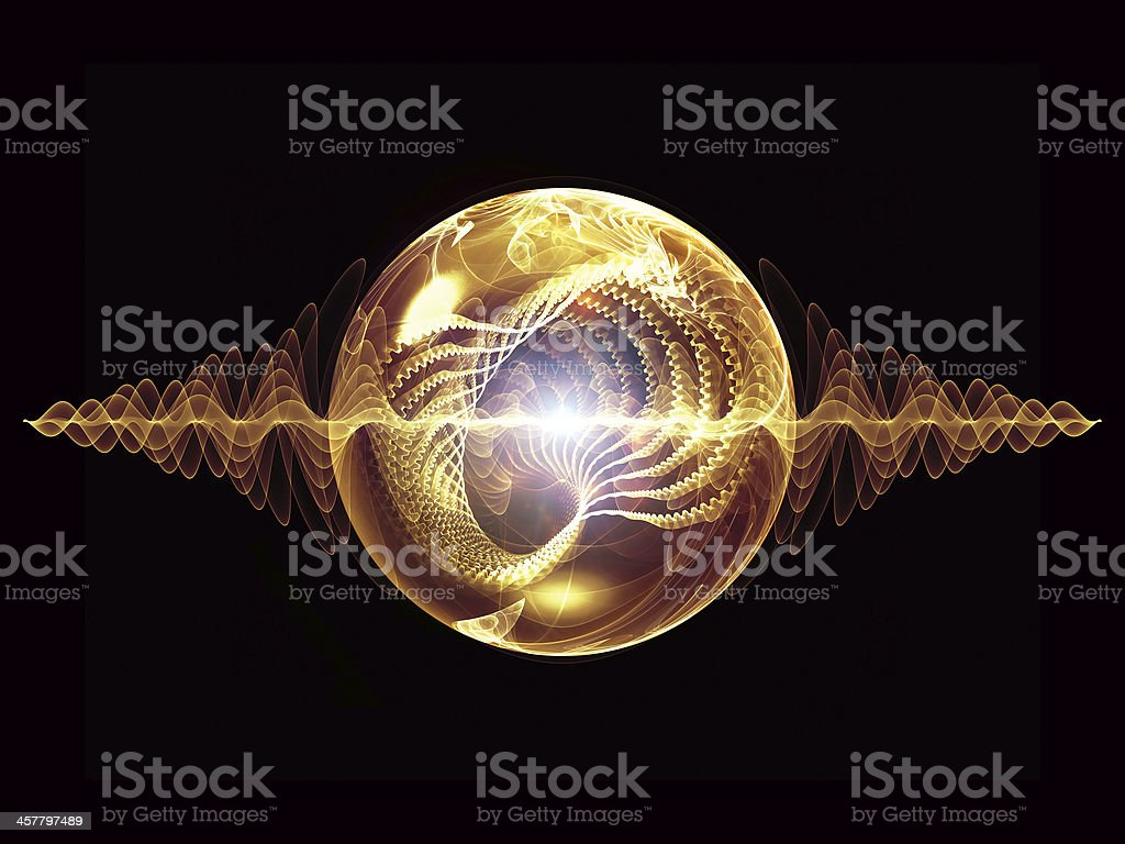 Energy of Wave Particle vector art illustration