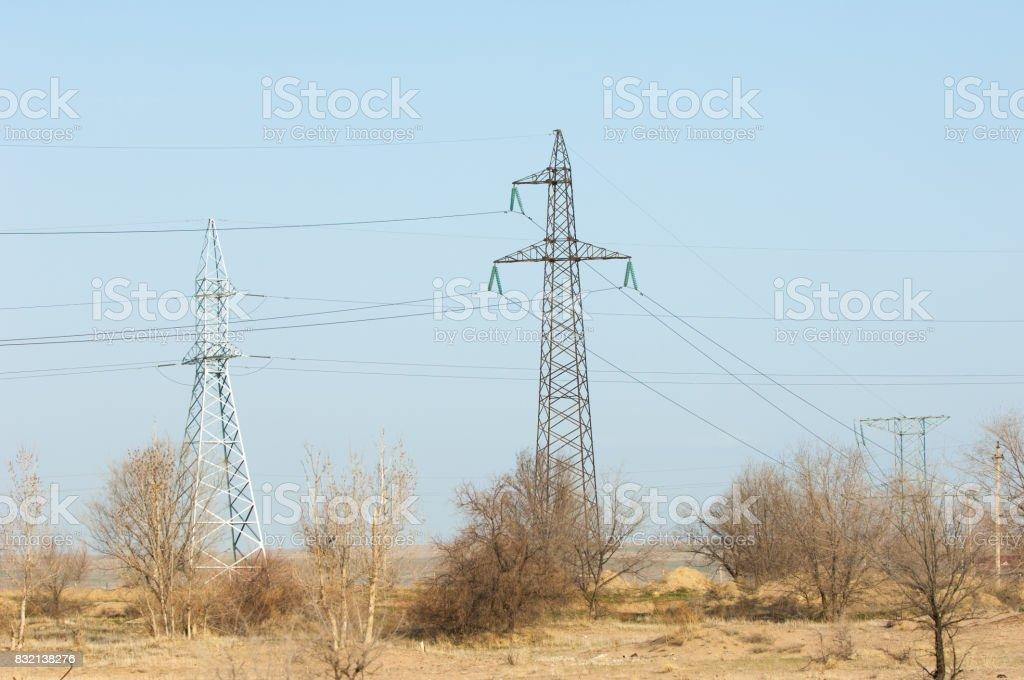 Energy pillars. spring stock photo