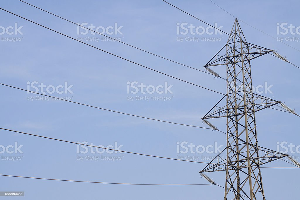 Energy Power Line Tower, Color Image stock photo