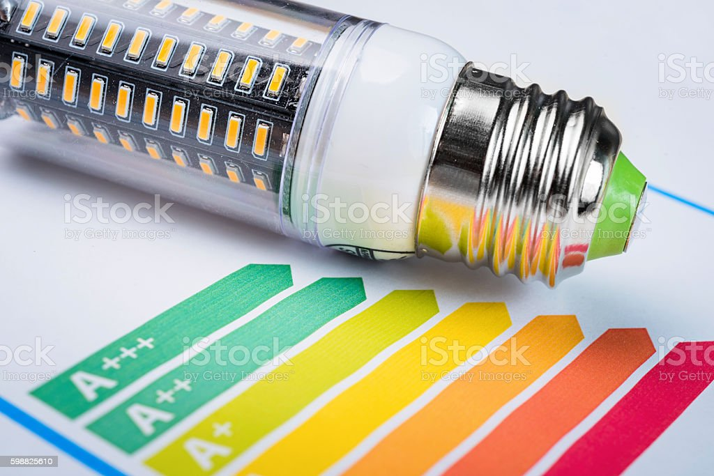 energy rating chart stock photo