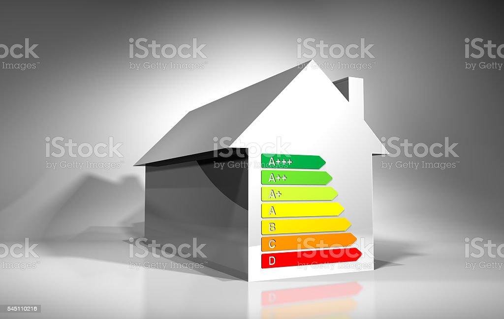 Energy Rating House stock photo