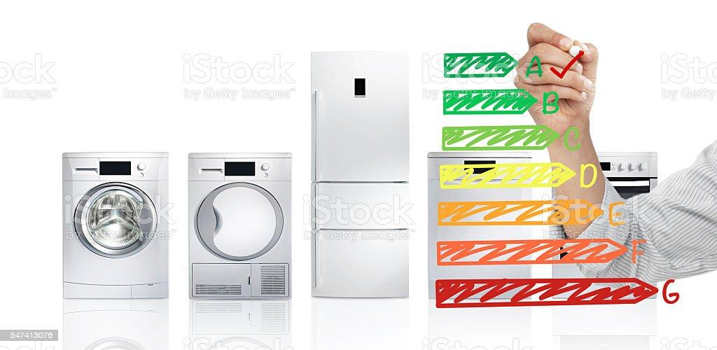 Energy saver appliances stock photo