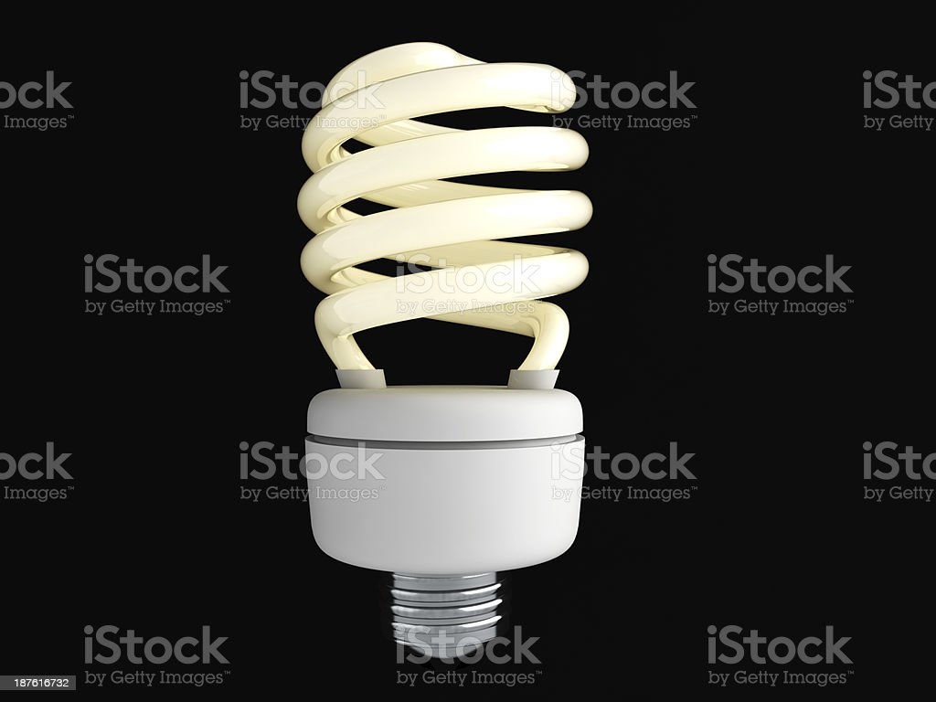 Energy Saver Bulb _ ON royalty-free stock photo