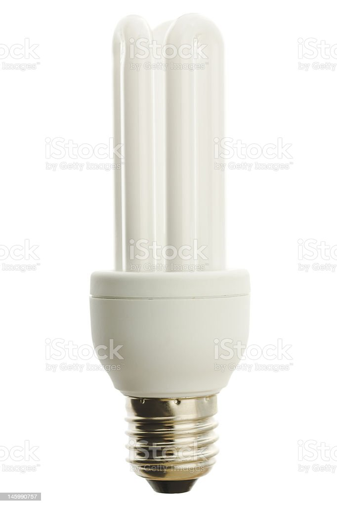 Energy saver lamp stock photo