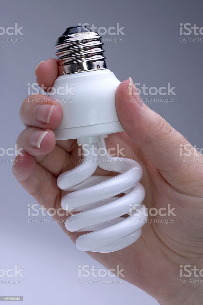 Energy Saver Lightbulb stock photo