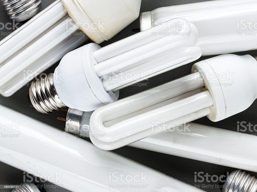 Energy saving bulbs stock photo