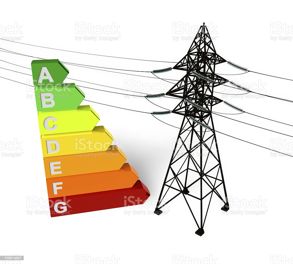 Energy saving concept royalty-free stock photo