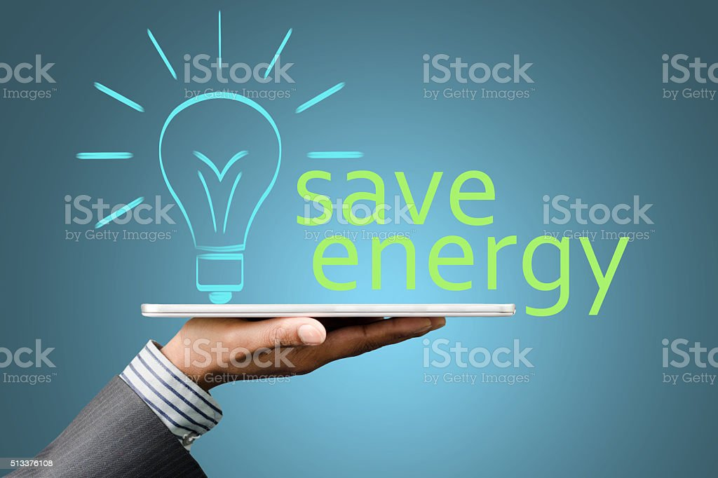 Energy saving electronics stock photo