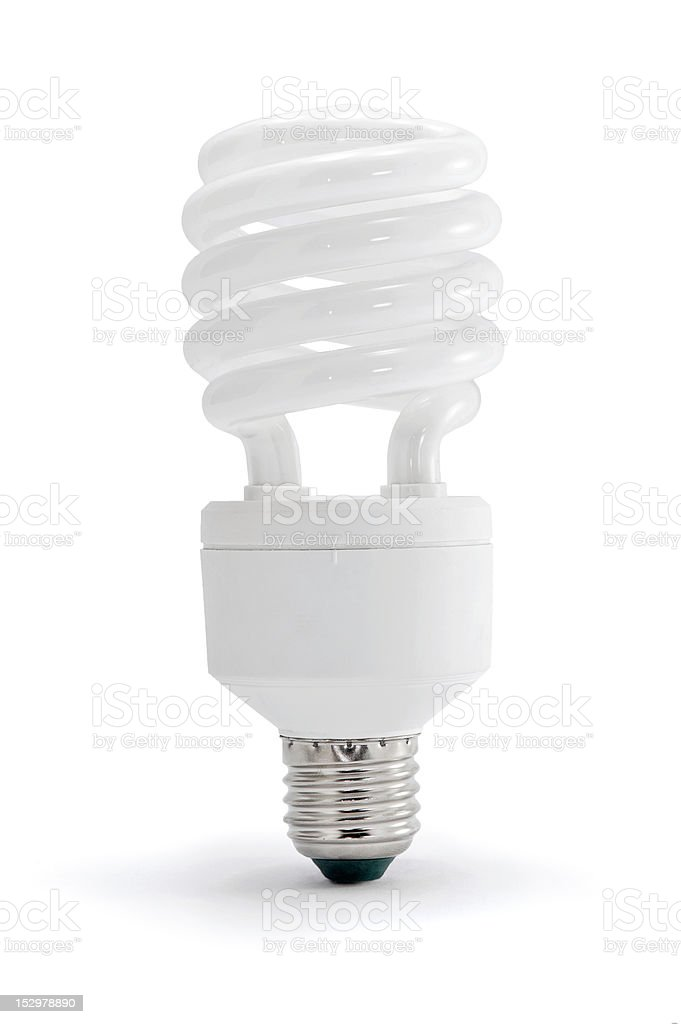 Energy saving lamp stock photo