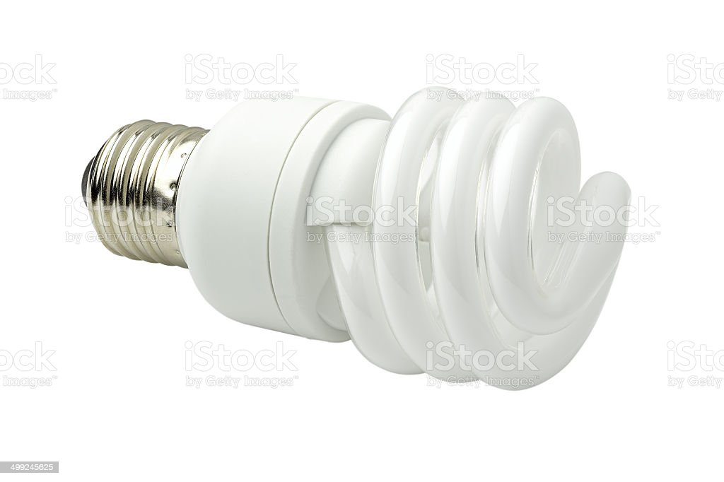 Energy saving lamp. stock photo