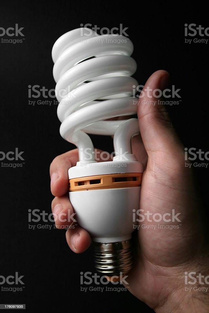 energy saving light bulb royalty-free stock photo