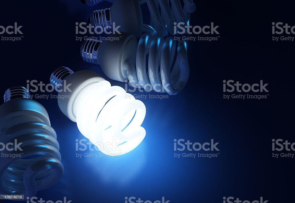 Energy saving light bulbs stock photo