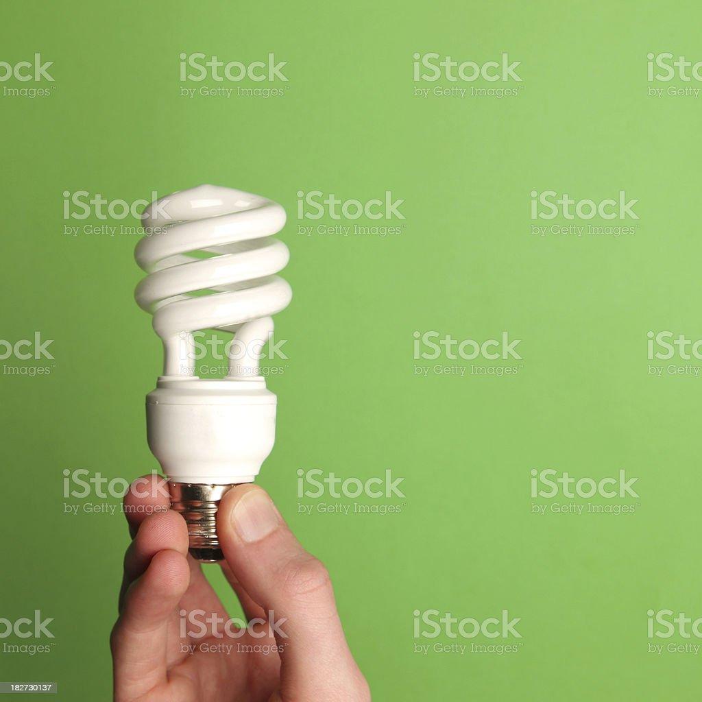 Energy saving lightbulb stock photo