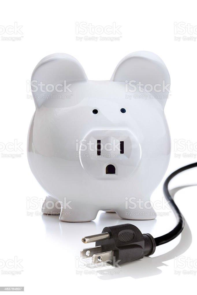 Energy Savings or Budgeting royalty-free stock photo