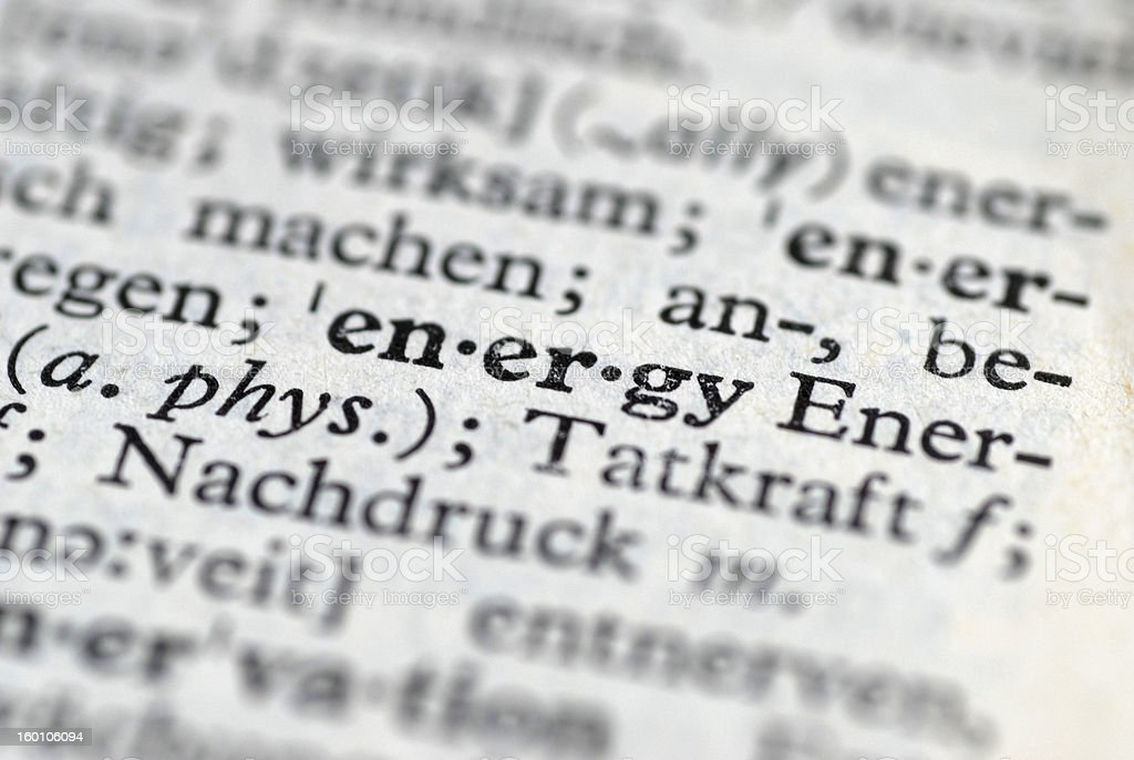 energy translation stock photo