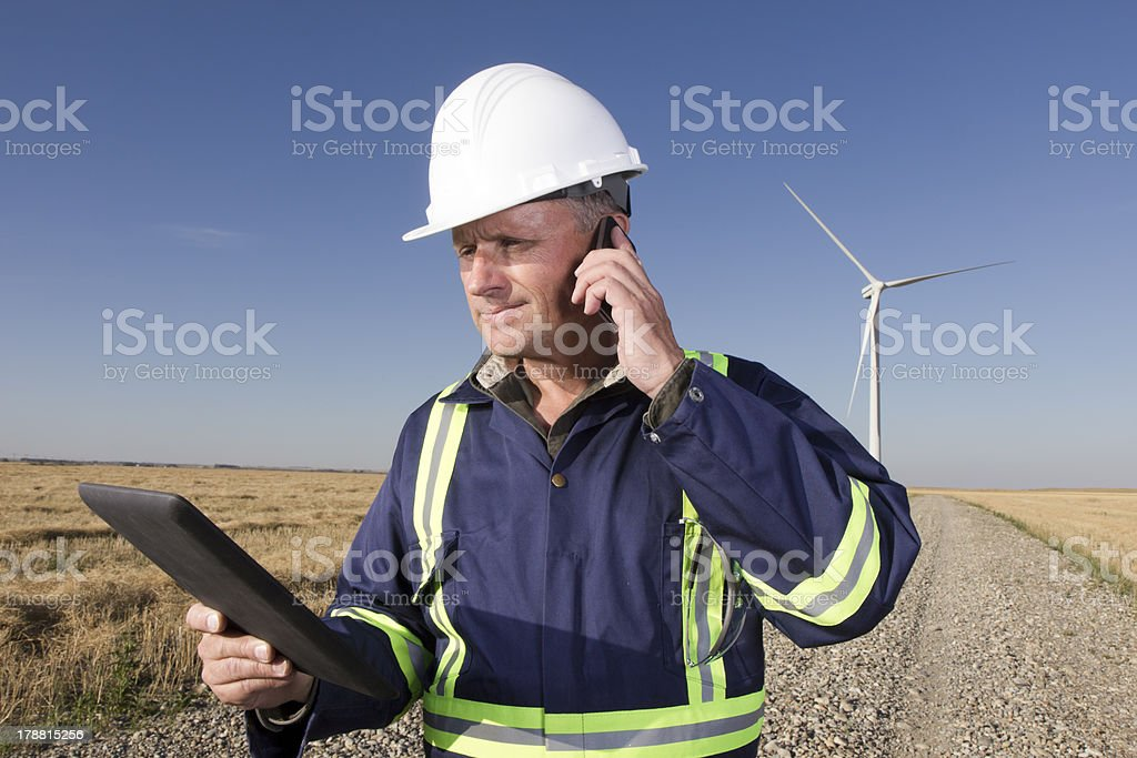 Energy Worker and Technology royalty-free stock photo