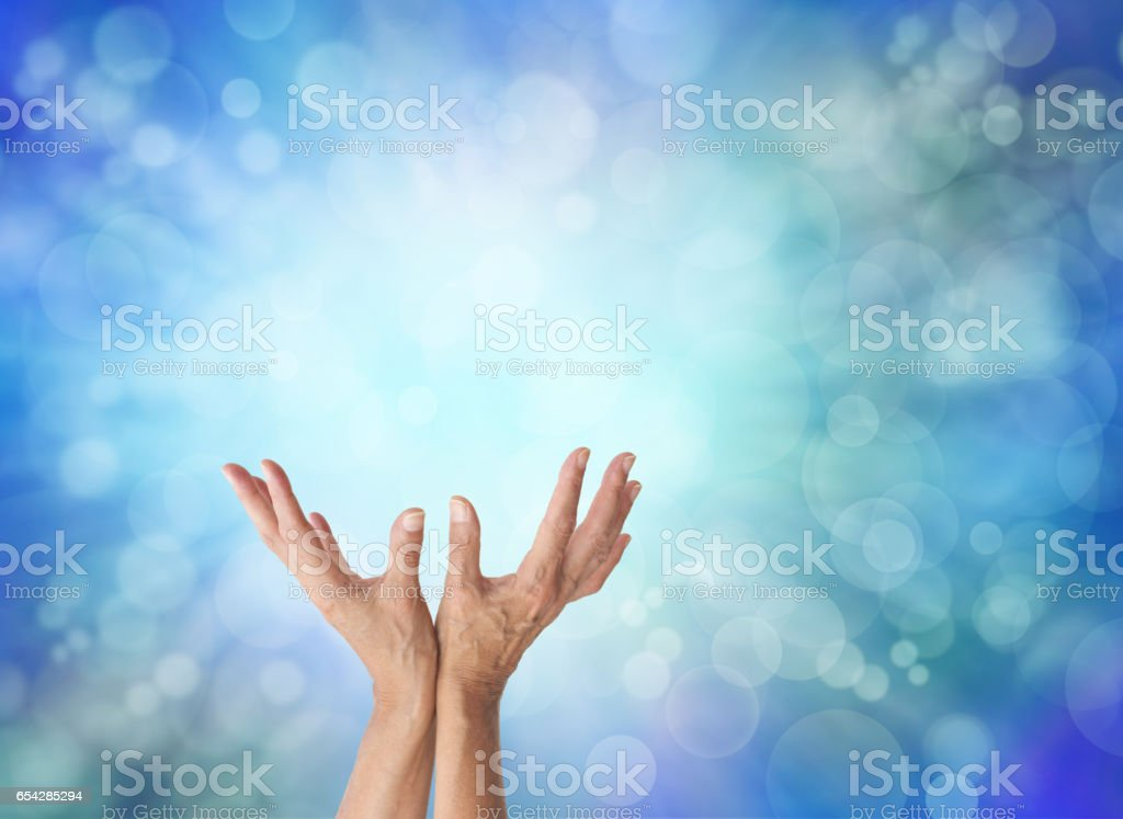Energy worker with cooling blue energy stock photo