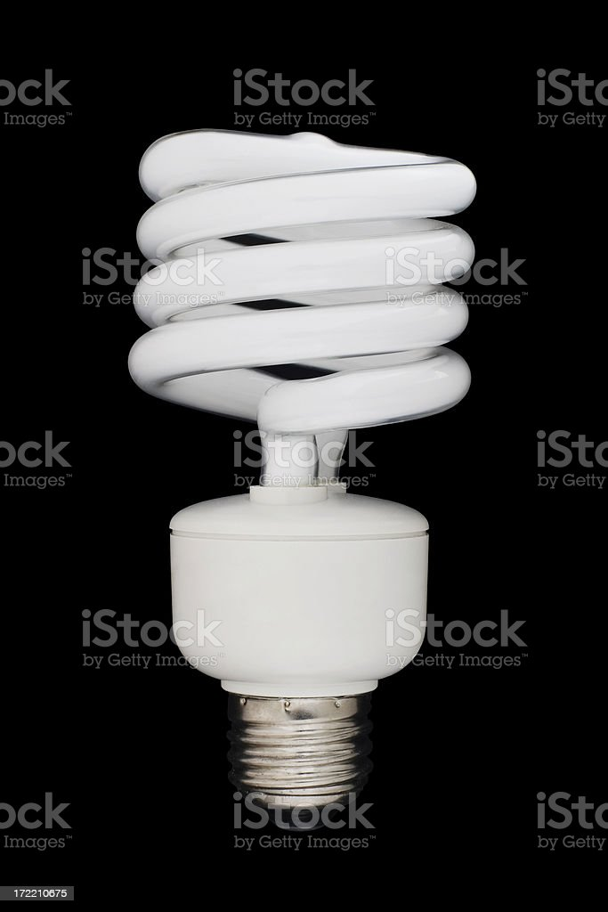 Energy-saving bulb (path included) stock photo