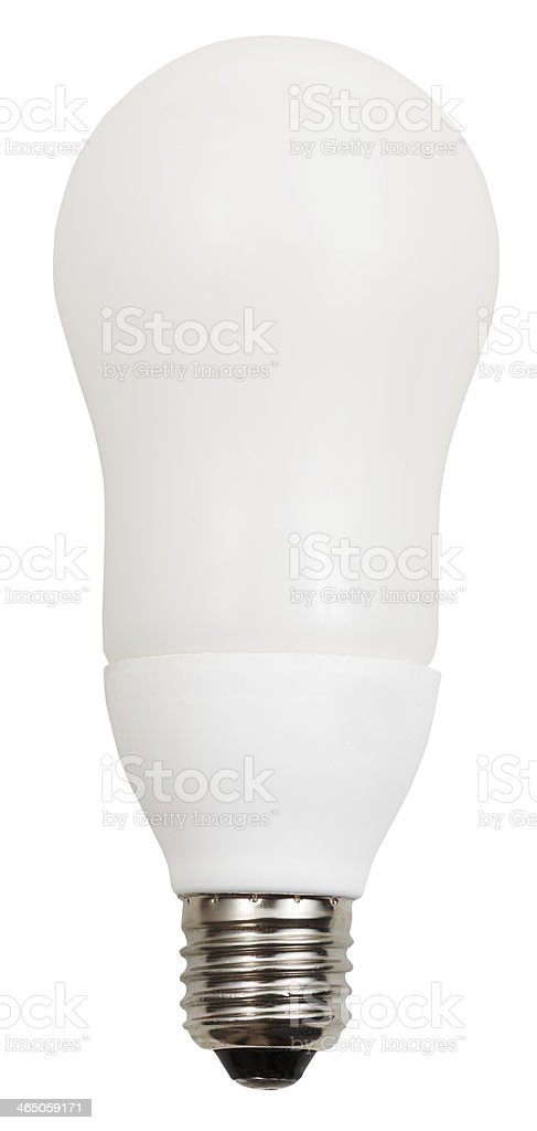 energy-saving compact fluorescent lamp stock photo