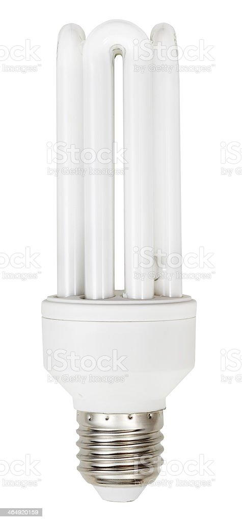energy-saving tubular type compact fluorescent lamp stock photo