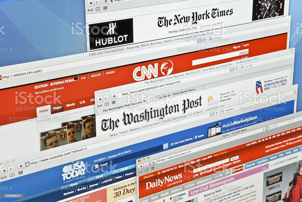 e-news stock photo