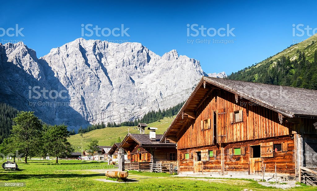 eng alm in austria stock photo