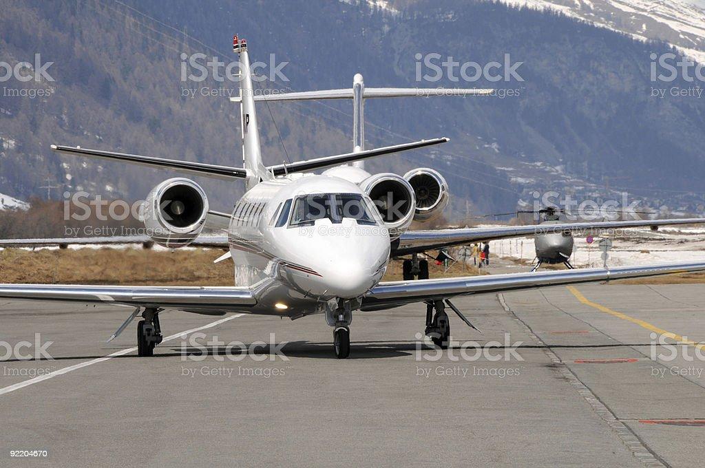 Engadin Airport stock photo