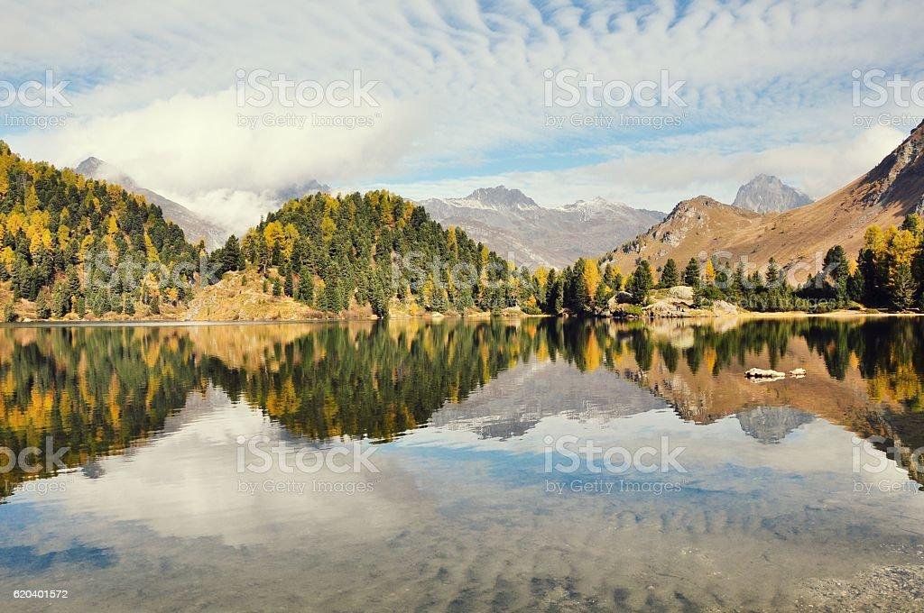Engadin St. Moritz stock photo