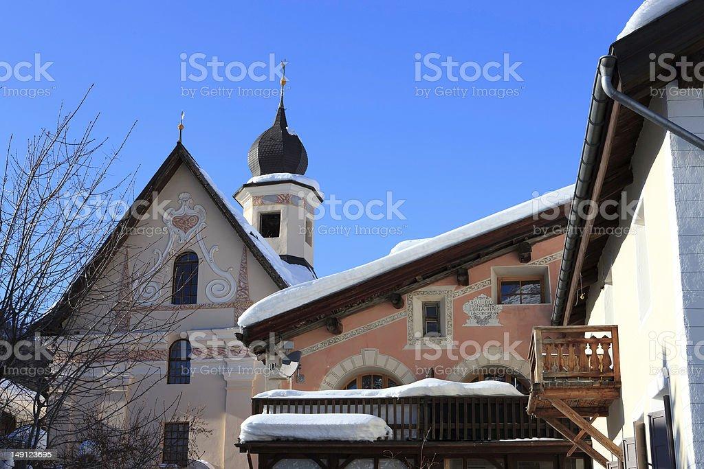 Engadin - Switzerland stock photo