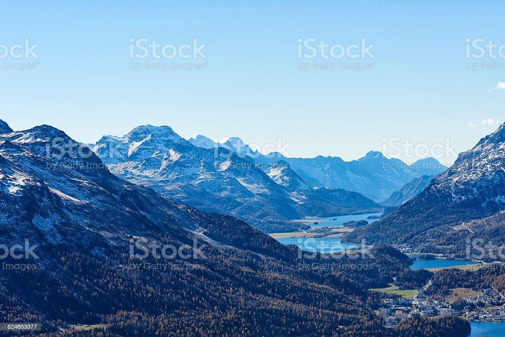 Engadin Valley stock photo
