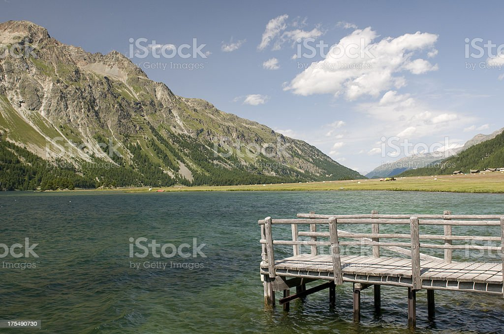 Engadine lakes royalty-free stock photo
