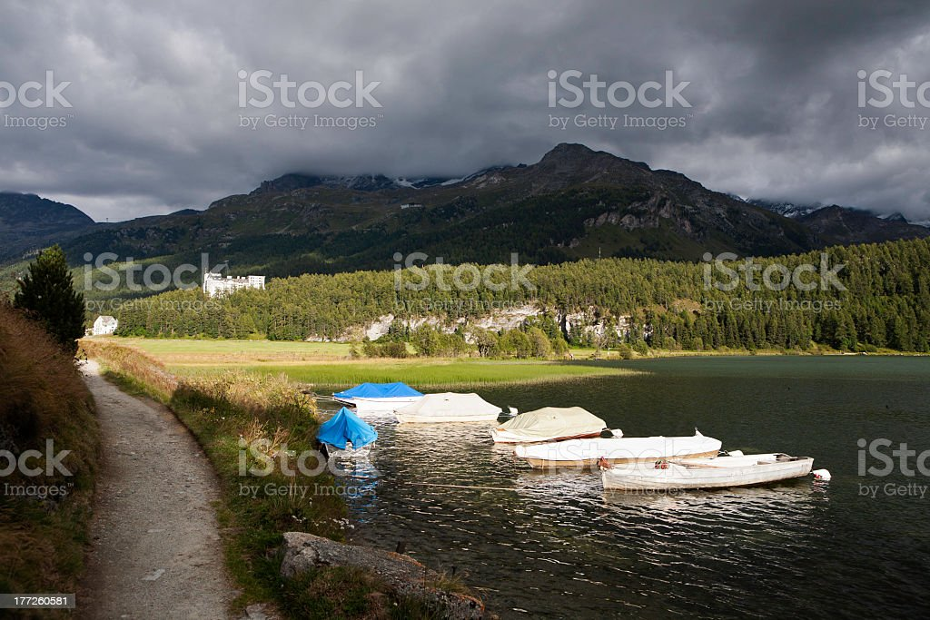 Engadine(Switzerland) royalty-free stock photo