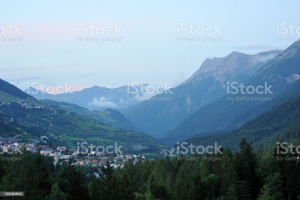 Engadine Valley in Switzerland royalty-free stock photo