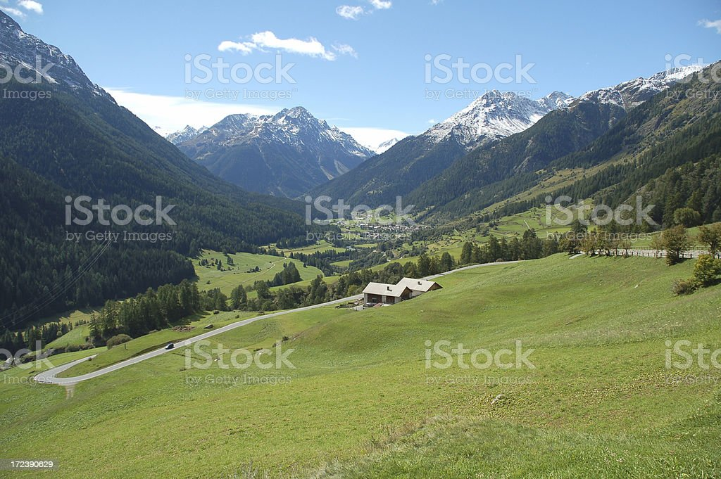 Engadine Valley stock photo
