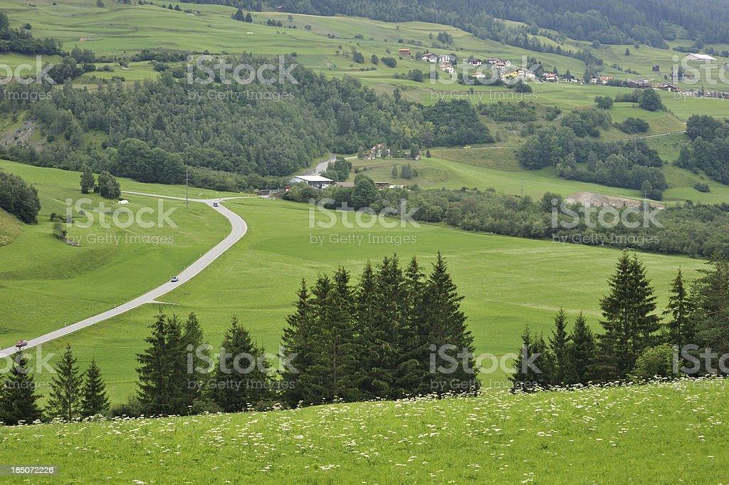 Engadine Valley royalty-free stock photo