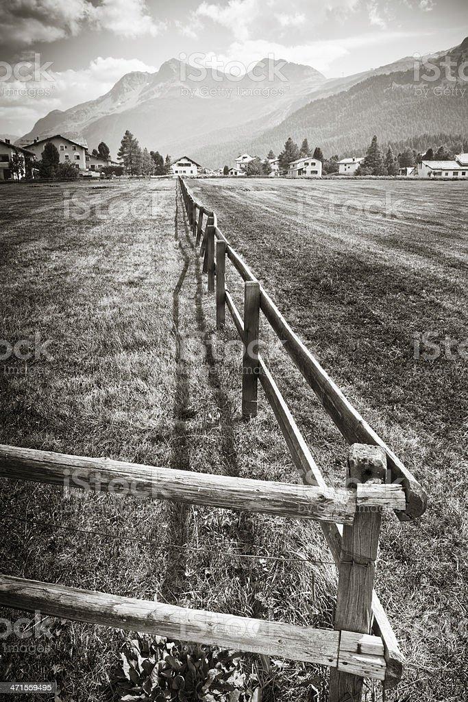 Engadine valley stock photo