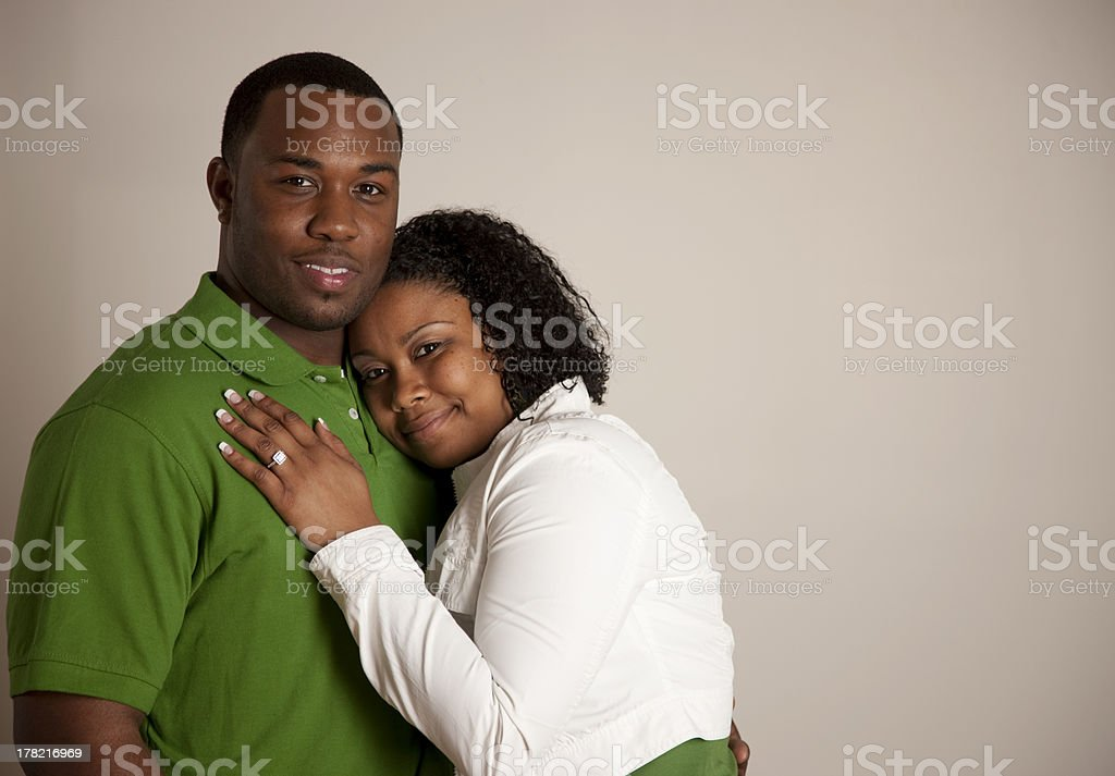 Engaged African American Couple in Love royalty-free stock photo