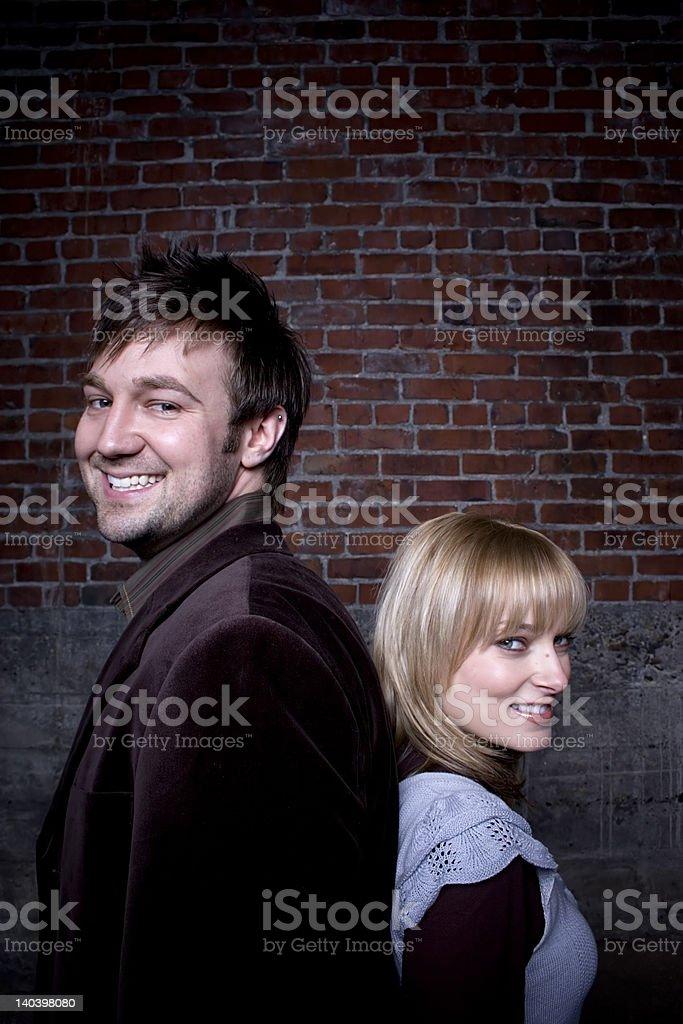 Engaged Couple royalty-free stock photo