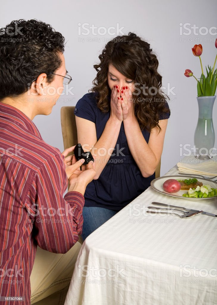 Engagement Dinner royalty-free stock photo