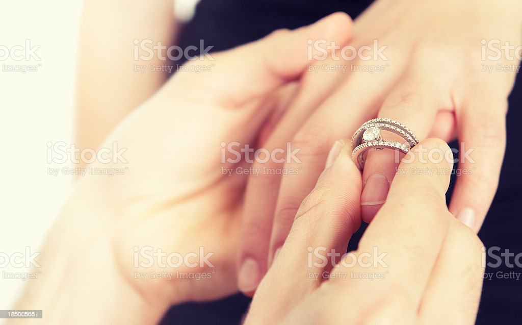Engagement for St. Valentine stock photo