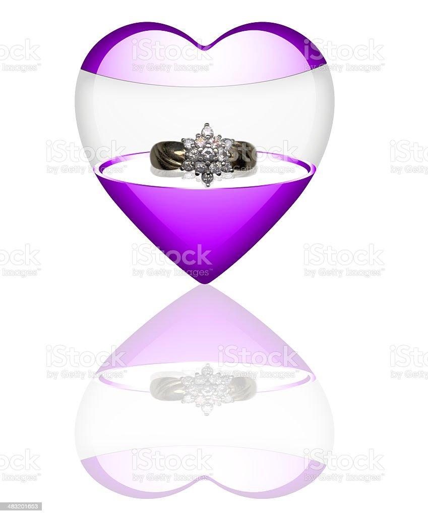 Engagement  heart purple royalty-free stock photo