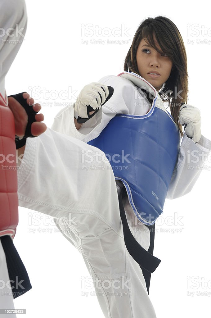 TKD Engagement royalty-free stock photo