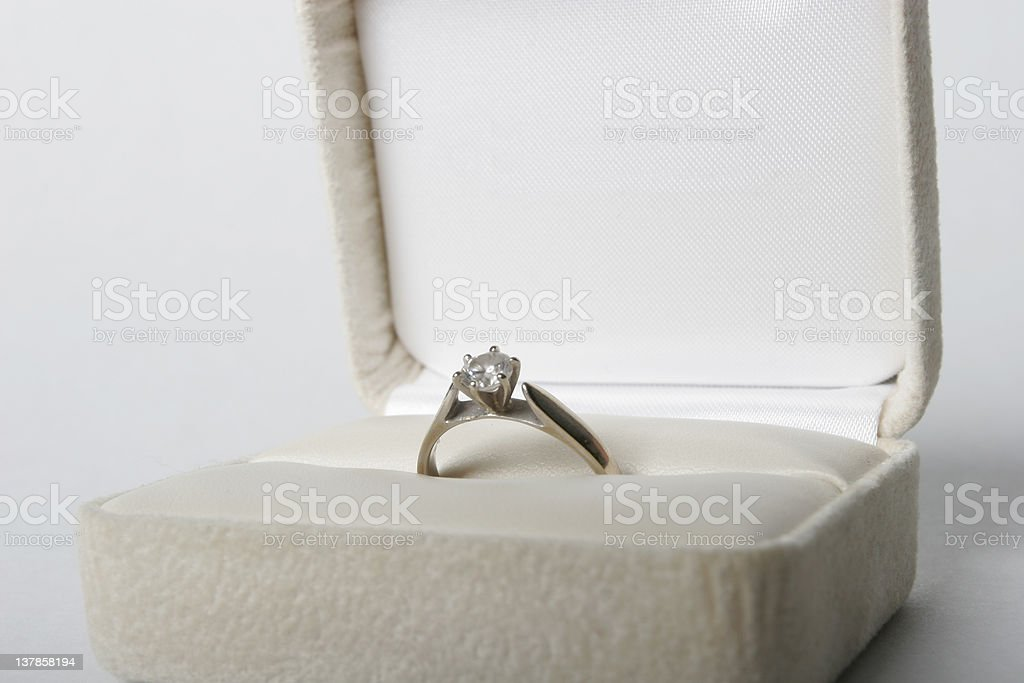 Engagement Ring 1 royalty-free stock photo
