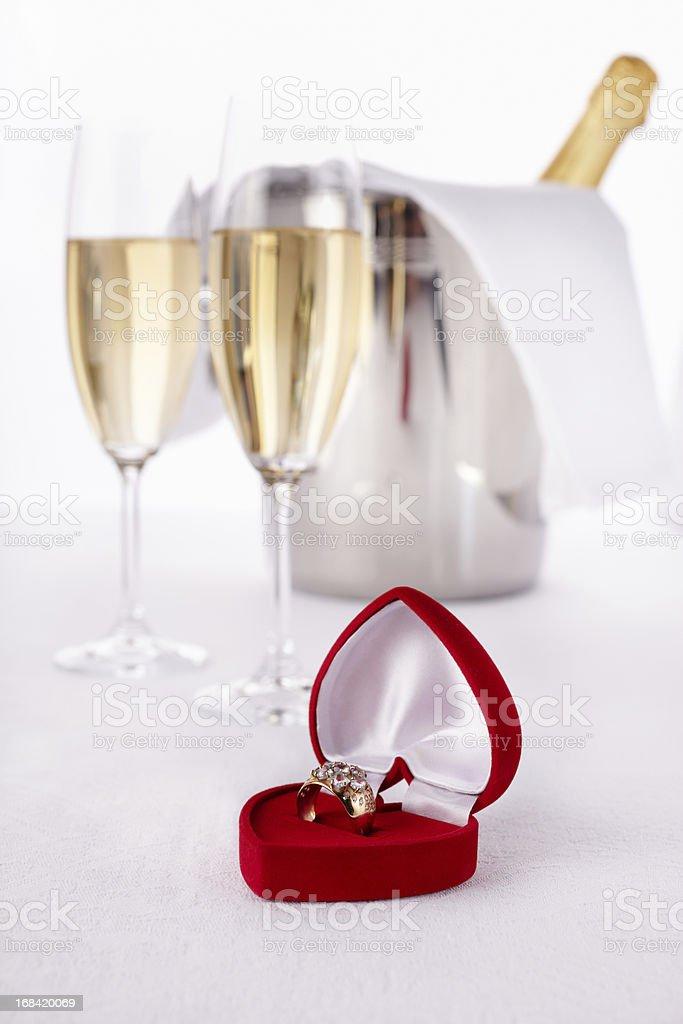 Engagement ring stock photo